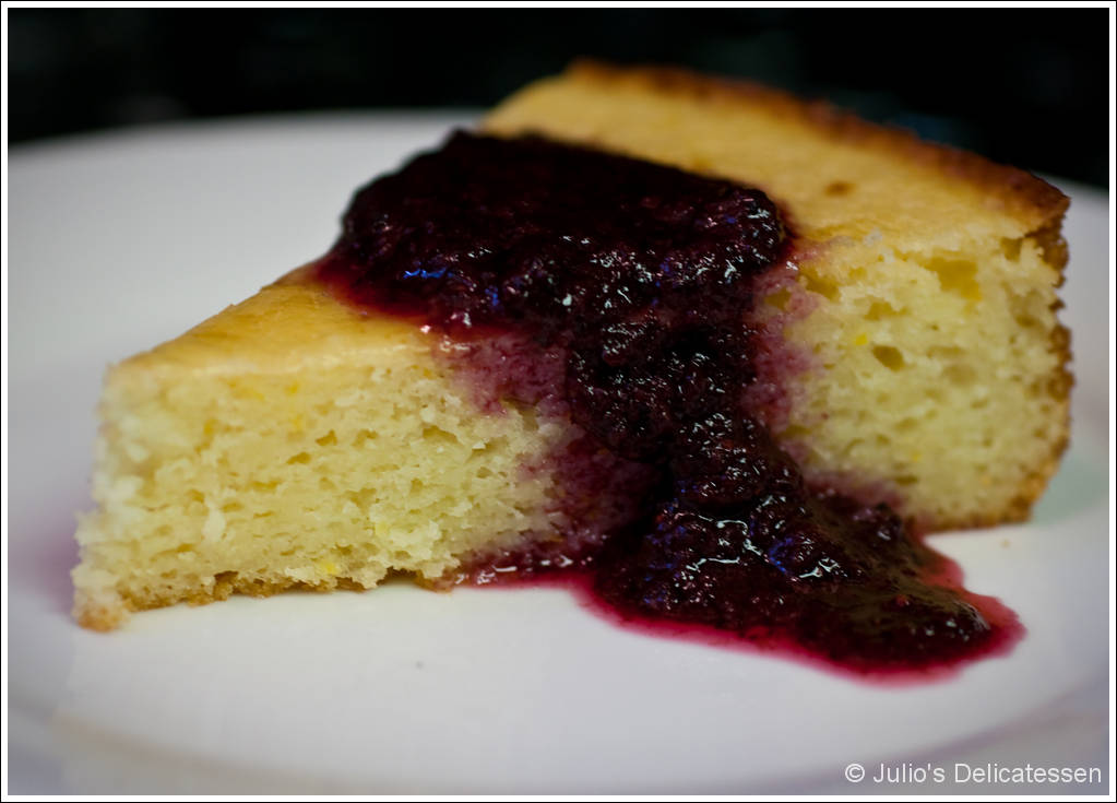 Meyer Lemon Yogurt Cake with Blueberry Sauce | Julio's ...