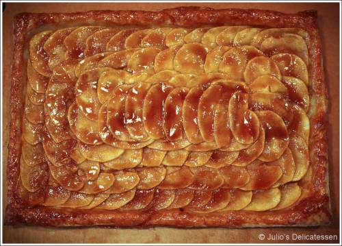 Apple tart with salted caramel glaze